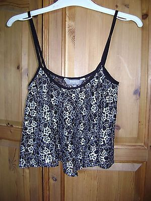New Look maternity cami top. Silver and black. Size 12