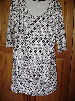 Mama Lucious Maternity dress/long top. 3/4 sleeves. Cotton and elastane