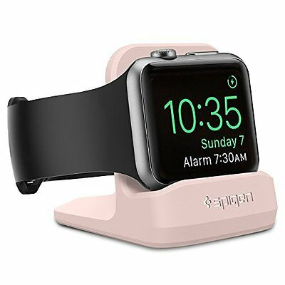 Apple Watch Dock iWatch Series 1 2 Night Stand Mode Charging Station Spigen Pink