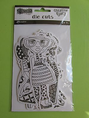 Ranger Dylusions Creative Dyary Die Cuts  NEW RELEASE