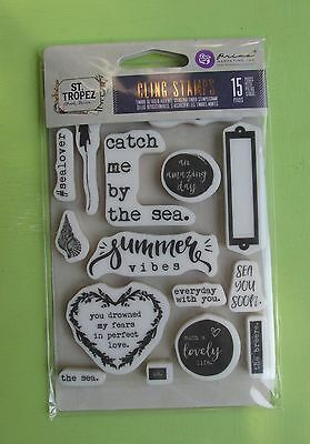 Prima ST TROPEZ Cling Stamps #992828 NEW RELEASE