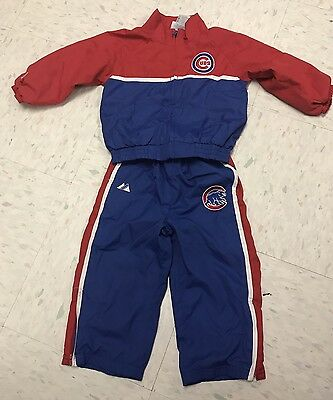 Chicago Cubs Majestic Track Suit - Size 24 Months