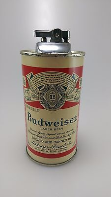 Vintage Budweiser Flat Top Beer Can Lighter Empty Can No Alcohol