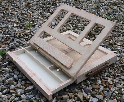 Artist Painting Wood Tabletop Portable Desk Table Easel with Storage Drawer