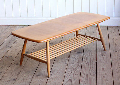 Vintage Retro Blonde Ercol Elm Coffee Table Mid Century