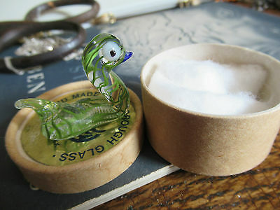 Vintage Scarborough's Hand made Glass Lucky Ducks - Boxed.