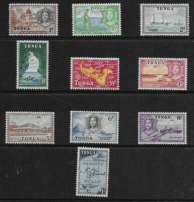 Tonga 1953 Queen Salote Pictorials - SS to 1/-   - MH