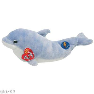 """Ty 2.0 Beanie Babies 8"""" Clipper light blue Dolphin BABY Online sealed tag"""