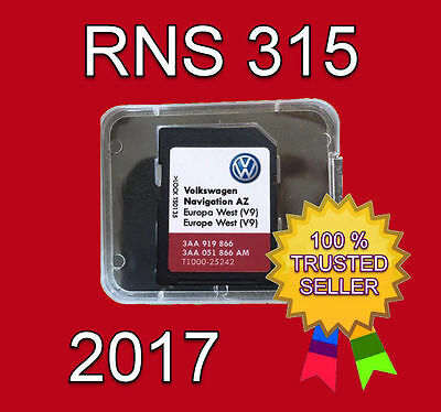 2017 Vw Skoda Seat Rns 315 Amundsen V9 Sd Card Az West Europe Navigation
