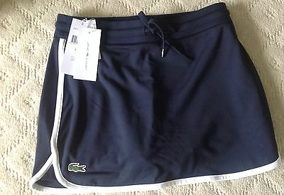 New without tags-LACOSTE Navy Sport Tennis Skirt Skort Short ladies-SZ 34-XS
