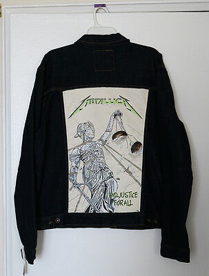 Hand-Painted Metallica Jacket  - And Justice For All - Hardwired 17 Nwt