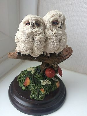 """Lovely Country Artists """"Double Owlet"""" Baby Owl Sculpture/Ornament. Excellent!"""