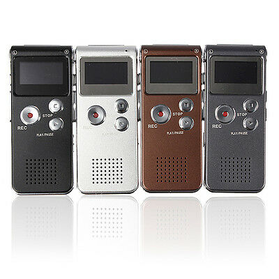 921907 Steel Rechargeable 8Gb 650Hr Digital Audio Voice Recorder Mp3 Player