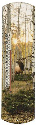 Heritage America by MORCO 375EA Elk in Aspen Outdoor or Indoor Thermometer, 20-I