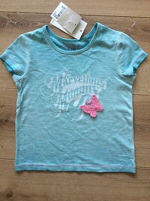 New Next Girls Summer Top T-shirt Tee Size 2-3 Years 100% Cotton