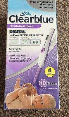 Clearblue Digital ovulation test 10 tests with dual hormone indi