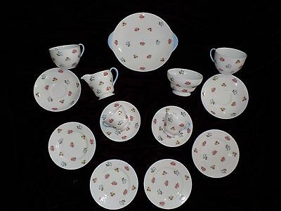 15 Piece Shelley ~ Rose Pansy Forget-Me-Not Fine Bone China Tea / Coffee Set