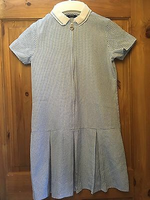 Blue Checked School Dress