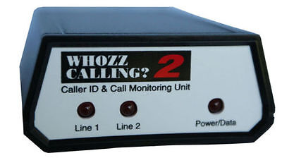 Whozz Calling? Inbound and Outbound Multiline Caller ID pcAmerica 2 Lines NEW