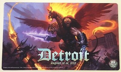 "M:TG - ""Spirit of Detroit"" playmat from Grand Prix Detroit art by Steve Prescott"