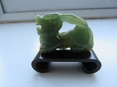 Beautiful Antique Vintage Carved Green Jade Jadeite Dragon Ornament Pendent