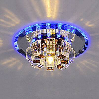 Modern Crystal LED Pendant Lamp Ceiling Light Fixture DIY Mirror Colorful Lamp