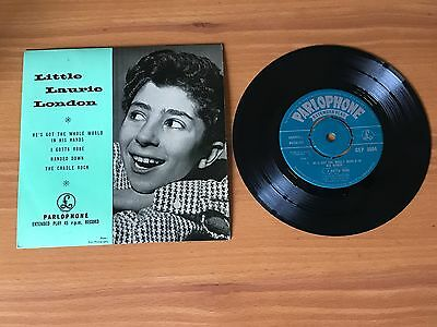 """Laurie London - He's Got The Whole World In His Hands : Ex+ Uk 7"""" Ep - Gep 8664"""