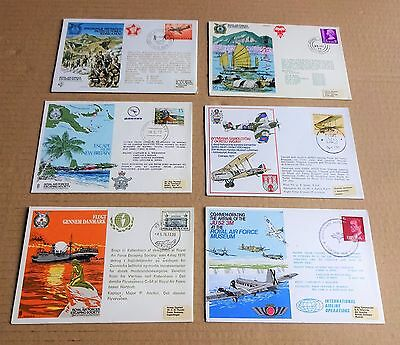 LOT OF 6 x USED  WORLDWIDE RAF/FORCES  FIRST DAY COVERS (FDC)  1977 -1978  LOT C