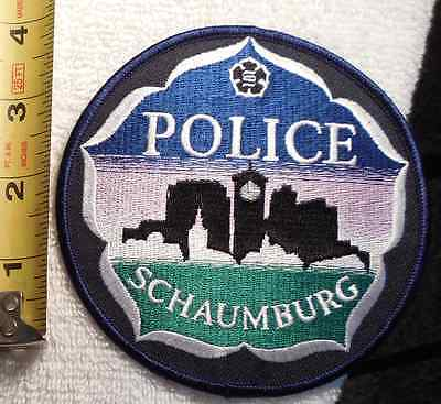 Schaumburg Illinois Police Patch (Ems, Fire, State Police, Sheriff)