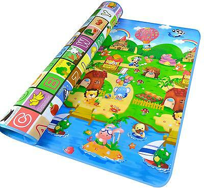Baby Kids Carpet 180*120*0.5cm Picnic Educational Play Game Cozy Soft Foam Mat