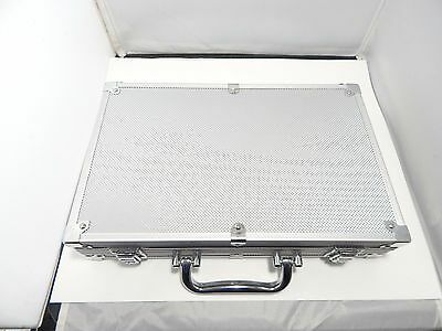 Aluminum Poker Case Only Storage for Chips Dice Playing Cards