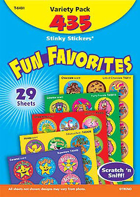 435 Trend Fun favourites Scratch and Sniff Stinky Reward Stickers Variety pack