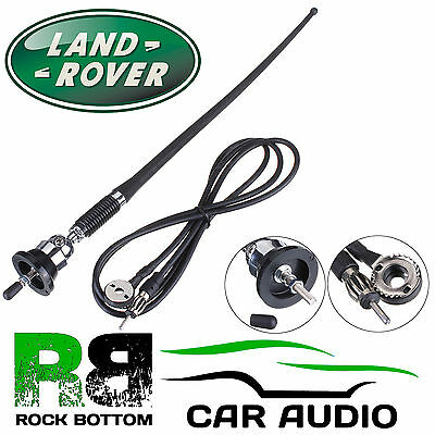 LANDROVER AM/FM Rubber Mast Roof/Wing Mount Car Radio Aerial Antenna CHROME
