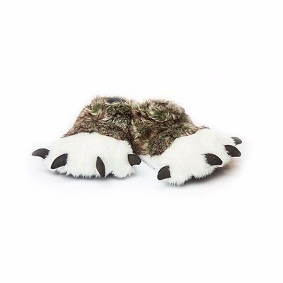 Great Wolf Lodge Wolf Paw Slippers - Size Kid 10-12