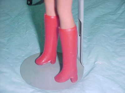 Barbie and Friends Red Chunky Heel Calf high Boots