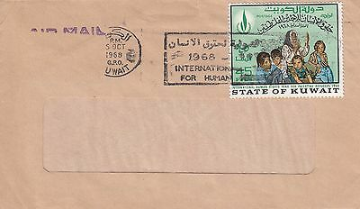 L 375 Kuwait October 1968 BBME air  mail cover pro Palestine stamp 45f rate
