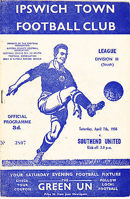 Ipswich Town V Southend Utd Div 3 South  7/4/56