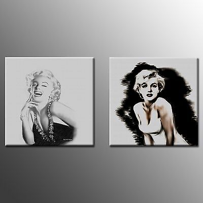 Canvas Art Marilyn Monroe Painting Print Poster For Home Room Decor-2pc-No Frame