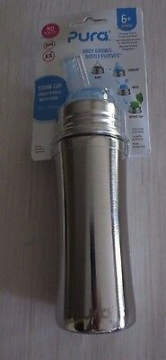 Pura Stainless Steel Straw Cup With Silicone Cap- 11 OZ
