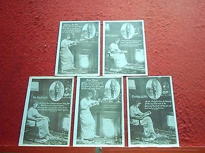 5 Old Postcards  WW1 Soldier Song Card Type