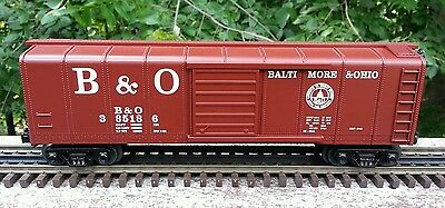 MTH Rail King #30-7429 B&O Baltimore & Ohio  Rounded Roof Boxcar - road #385186