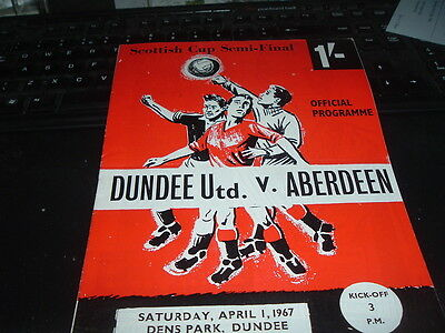 1967 Scottish Cup Semi Final Dundee Utd v Aberdeen mint