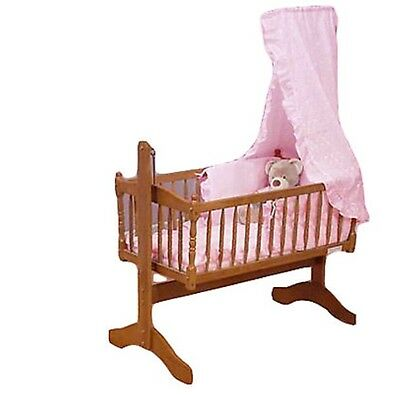 Broderie Anglaise Baby Crib 3 Piece Bedding Set Top Quality New
