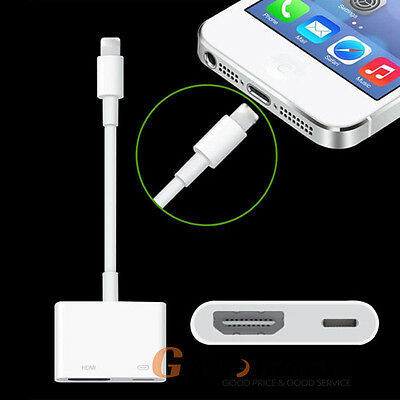 8Pin Lightning to Digital AV Adapter HDMI Cable For iPhone 7 6 6S iPad Air