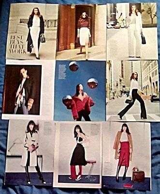 Supermodel Catherine McNeil Clippings 21 Pg Harpers Glamour Porter Photoshoots +