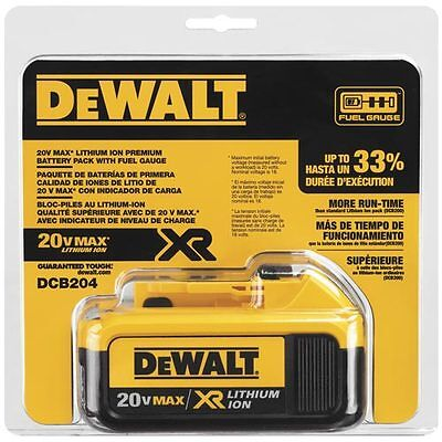 DeWALT DCB204 20V Max XR 4 Ah Battery Pack New with factory warranty