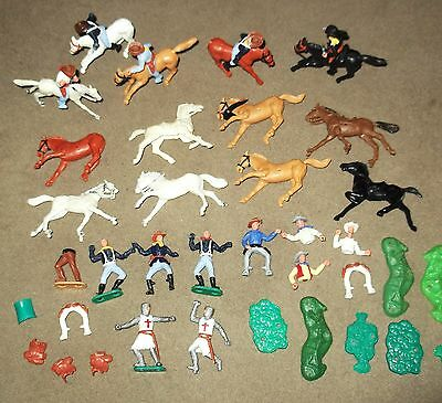 Vintage Lot of 'Timpo' Cowboys, Cavalry, Knights & Horses.