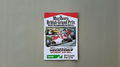 BRITISH GRAND PRIX WORLD CHAMPIONSHIP for DRIVERS SILVERSTONE RACECARD 1981