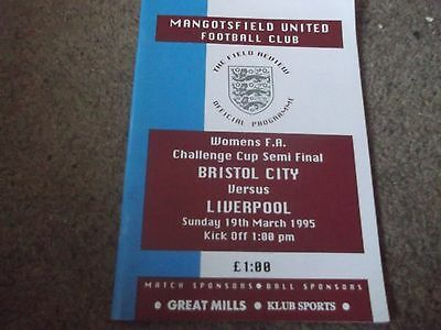 1995 Womens Fa Cup Semi Final Bristol City V Liverpool @ Mangotsfield United