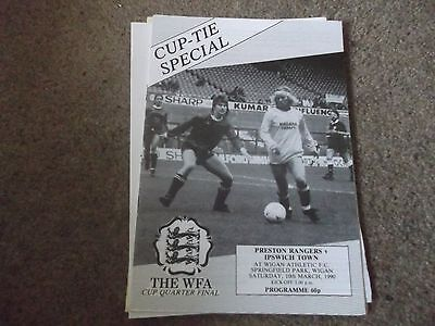1990 Womens Fa Cup Quarter Final Preston Rangers V Ipswich Town @ Wigan Athletic